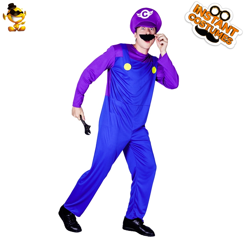 Detail Feedback Questions about New Arrival Man Mario Waluigi Party Costume  Performance Mario Suits Role Play Carnival Party on Aliexpress.com  adfcace42