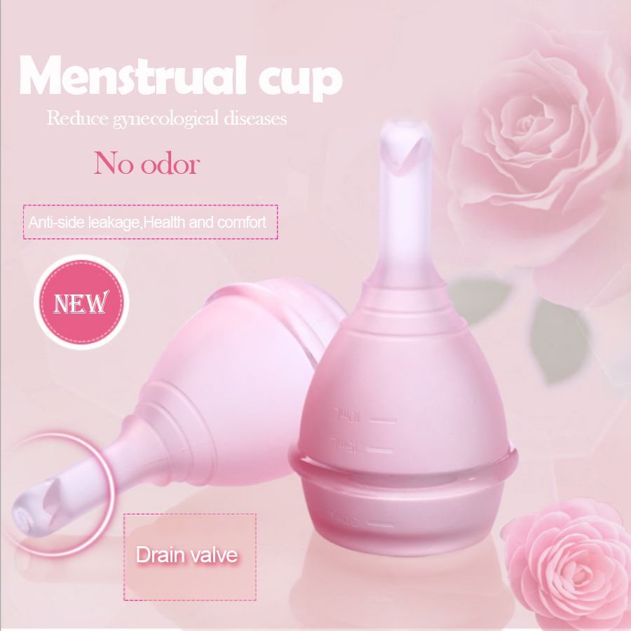 Valve Menstrual cup medical silicone period cup Anti-side les