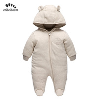 Winter Baby Rompers Clothes Long Sleeved Newborn Boy Girl organic cotton toddler Jumpsuit Infant kids warm Clothing for 0 18M