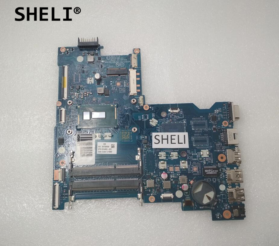 SHELI For HP 15-AC 440 G3 Motherboard with 3825U AHL50/ABL52 824453-001