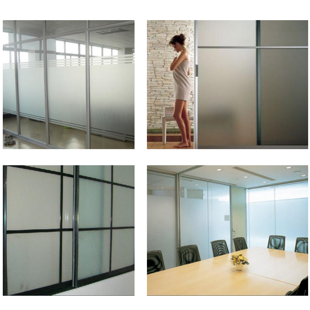 0.76x30m White Frosted Window Glass Film Opaque Matte Privacy Glass Tint Stickers for Home Bathroom Office Meeting Room
