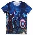 3D Marvel Comic The Avengers t shirt Captain America Iron Man Pullover Nicholas Joseph Fury camisetas tops shirts For Women Men