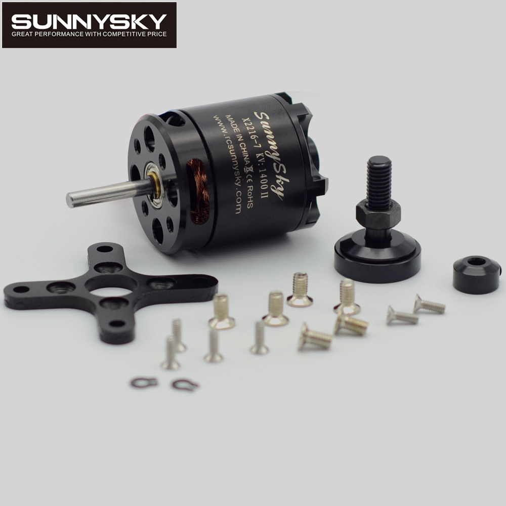 1pcs SUNNYSKY X2216 KV880 KV1100 KV1250 KV1400 KV1800 KV2400 Outrunner Brushless Motor For Multi-rotor Quadcopter 3D Airplanes 4set lot universal rc quadcopter part kit 1045 propeller 1pair hp 30a brushless esc a2212 1000kv outrunner brushless motor