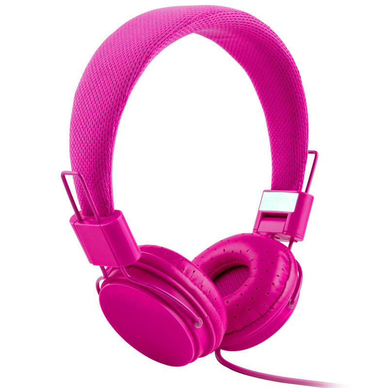Wired Headsets Microphone Headphones Headband Fone De Ouvido Bests Earphone For Mobile Phone Support Music Pink For Girl (5)