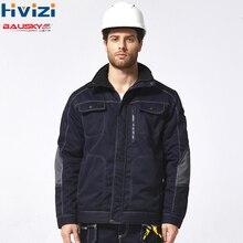 Mens Winter Work Clothes Multi-Pocket Wear-Resistant Windproof Warmth Plus Jacket mechanic Construction men Coat B217