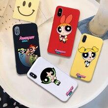 Powerpuff girls buttercup bubbles мягкий силиконовый карамельный цвет чехол для мобильного телефона для iPhone 11 X XR XS MAX 6 7 8 plus 6s