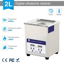 Skymen Digitale Ad Ultrasuoni Bath Cleaner soluzione 2L 60W ad ultrasuoni con riscaldatore Monete Nail Strumento di Parte Macchina di Pulizia