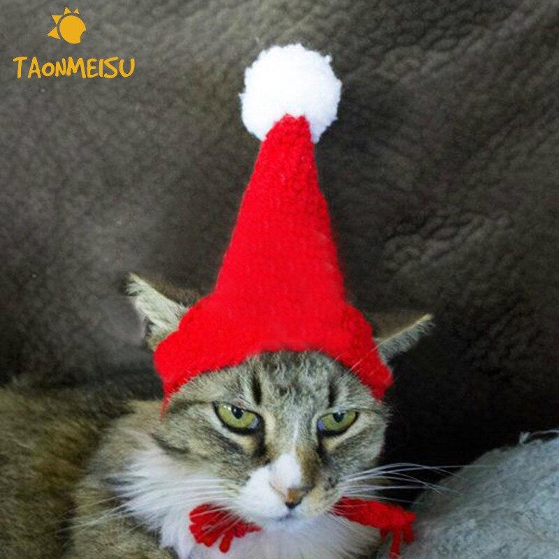 Adjustable Pet Christmas Knitted Woolen Hat Pet Festival Party Cap Newest