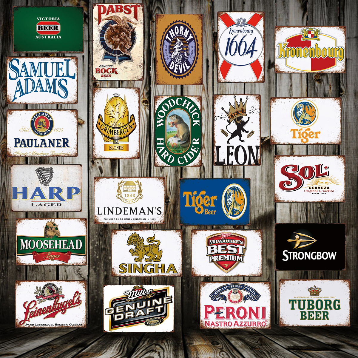 [ WellCraft ] Beer Bar PUB Metal Sign Wall Posters art Vintage Painting Personality Custom Decor LT-1725