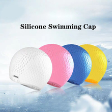 Silicon Swimming cap Unisex Adult Waterproof Swimming hat swim Cover Ear Protect Flexible particle Swimming Caps swimming