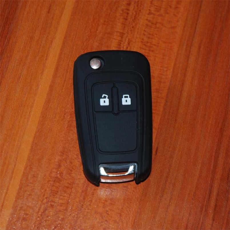 Siliconen Autosleutel Cover Key Protector Sleutelhanger Case Voor Chevrolet Cruze Trax Lova Spark Onix Silverado Volt Camaro Aveo Zeil