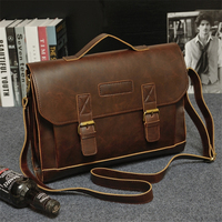 2019 New Leather Men's Briefcase Fashion Large Capacity Business Bag Brown Black Male Leather Shoulder Laptop Bags