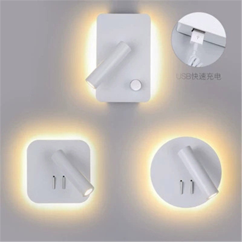 Creative Wall Lamp Bedside Light Bedroom Fashion Decoration Simple Personality Hotel Wall With Switch Light Reading LampCreative Wall Lamp Bedside Light Bedroom Fashion Decoration Simple Personality Hotel Wall With Switch Light Reading Lamp