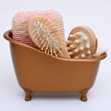 4 Items/set Hot Sale Small Pet Bathtub +Wood Massage Comb+bath Sponge+Body massage bathroom accessories bath set