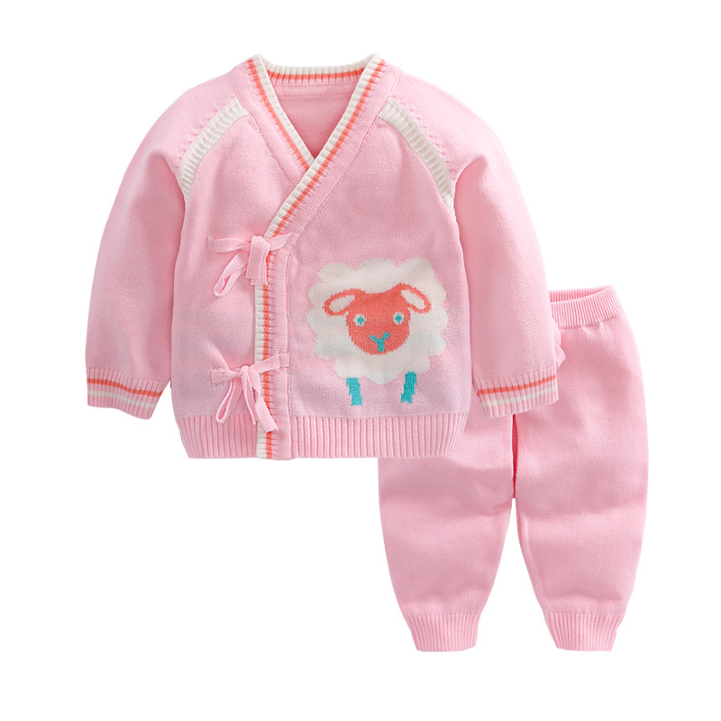 0418509cd New 2pcs set Newborn Baby Girls boys Autumn Winter Cartoon cotton ...