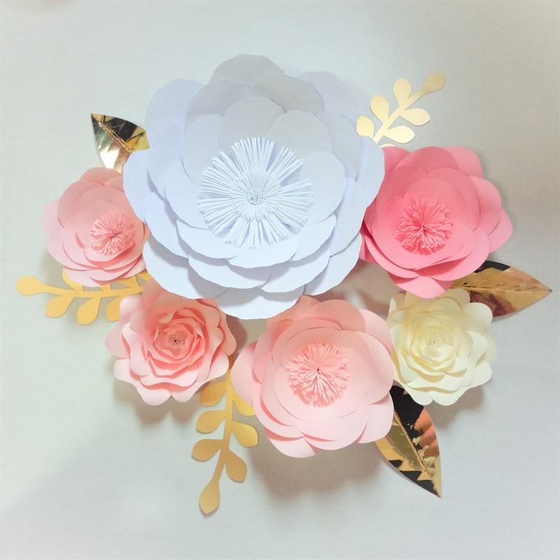 2019 2018 DIY Giant Paper Flowers Backdrop Leaves Wedding