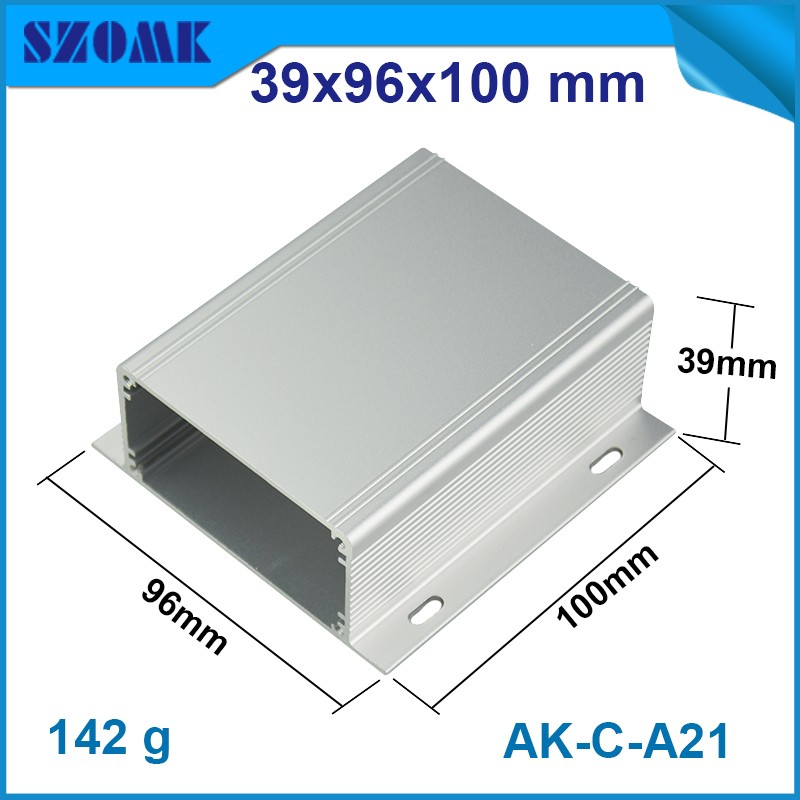 1 piece free shipping electronics aluminium case or aluminium box metal enclosure 39*96*100mm wall mounted project case все цены