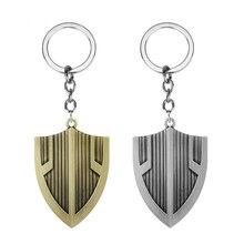 Superhero Black Panther Shield Keychains Avengers Captain America Symbol For Men Car Keyring Bag Accessories