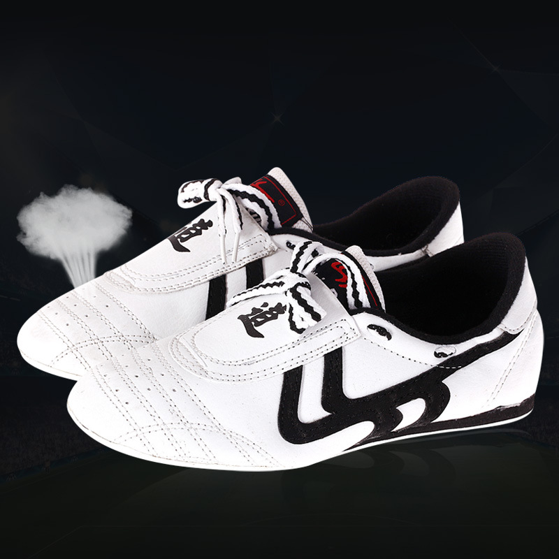 White Taekwondo Shoes Breathable Wear-resistant Training Kickboxing Tae Kwon Do Martial Arts Sneaker Shoes From Kids To Adult