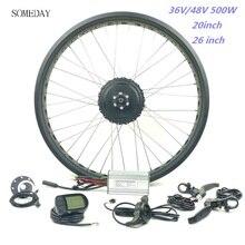 Когда-нибудь EBIKE fat tire спереди 20 26 дюймов Планетарная втулка 36 В/48V500W Электрический велосипед Снег велосипед с дисплеем LCD5