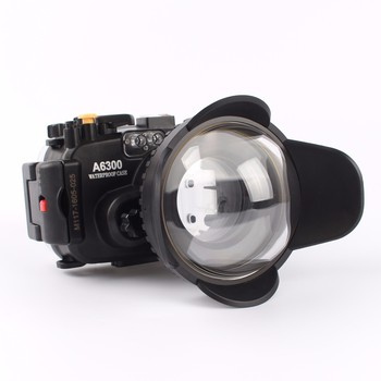Meikon 40m/130ft Waterproof Underwater Camera Housing Case for A6300 + Dome Port lens