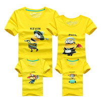 Minion Shirt Top Quality Cartoon T Shirts Camisetas Despicable Me Minions Clothes Minion Costume Boys Clothes