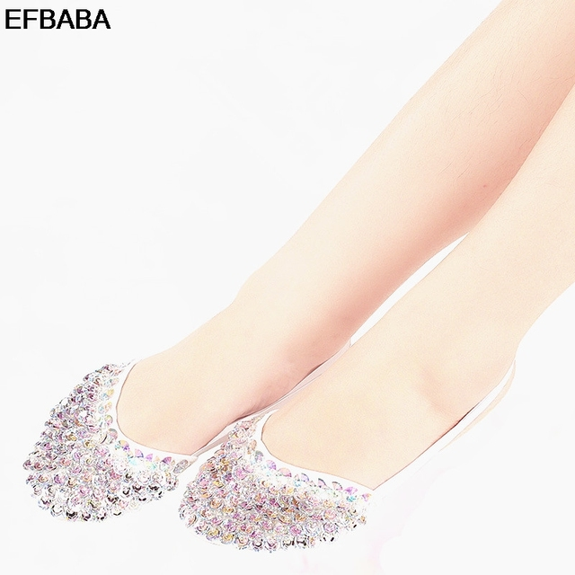 EFBABA Ballet Shoes Pointe Dance Shoes Fish Embroidery Practice Women Flat  Shoes Sapato Feminino Ladies-shoes Sapatilha Ballet 24107a78e382