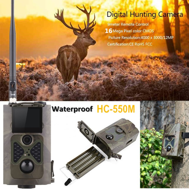 HC550M Wild Camera For Outdoor Hunting Trap Photo 16MP 2 inch LCD Screen PIR Motion Trail Hunting Camera MMS GSM SMS control