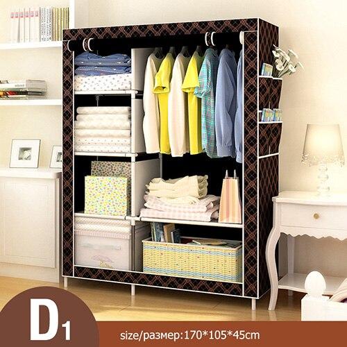 Многоцелевой нетканый Тканевый шкаф для спальни, складной портативный шкаф для хранения одежды, пылезащитный Тканевый шкаф, домашняя мебель - Цвет: HH340600CS5