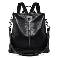 Women Backpack Genuine Leather Women Bags Designer Casual Real Leather Laptop Backpack Solid Female Trave Bag School Bag C748