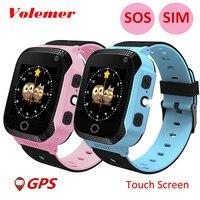 Volemer Q528 Smart GPS Tracker Location SOS Call Remote Monitor Watch Flashlight Watch Wristwatch For Kids