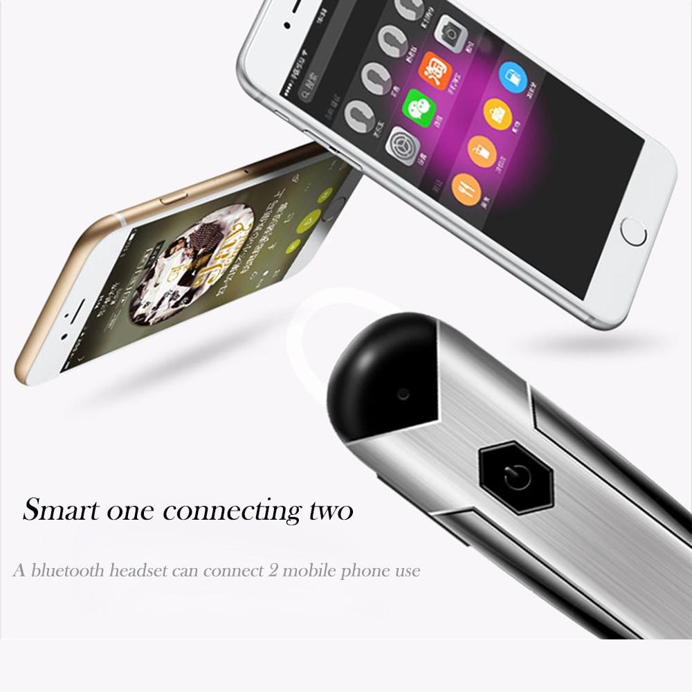 Business Bluetooth Headset Intelligent Speech Bluetooth 4 1 Headphones Earphone Build in Mic Handfree Headphones for Smart Phone in Bluetooth Earphones Headphones from Consumer Electronics