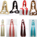 Free Shipping perucas 150cm Tangled Rapunzel Synthetic Straight Light Brown Blonde Pink Black Red White Long Cosplay Wig
