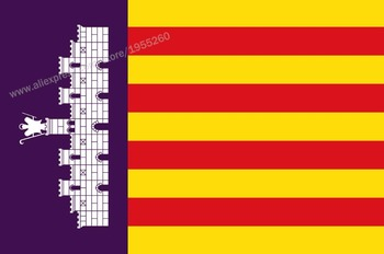 Flag of Majorca Balearic Islands 3 x 5 FT 90 x 150 cm Spain Flags Banners image