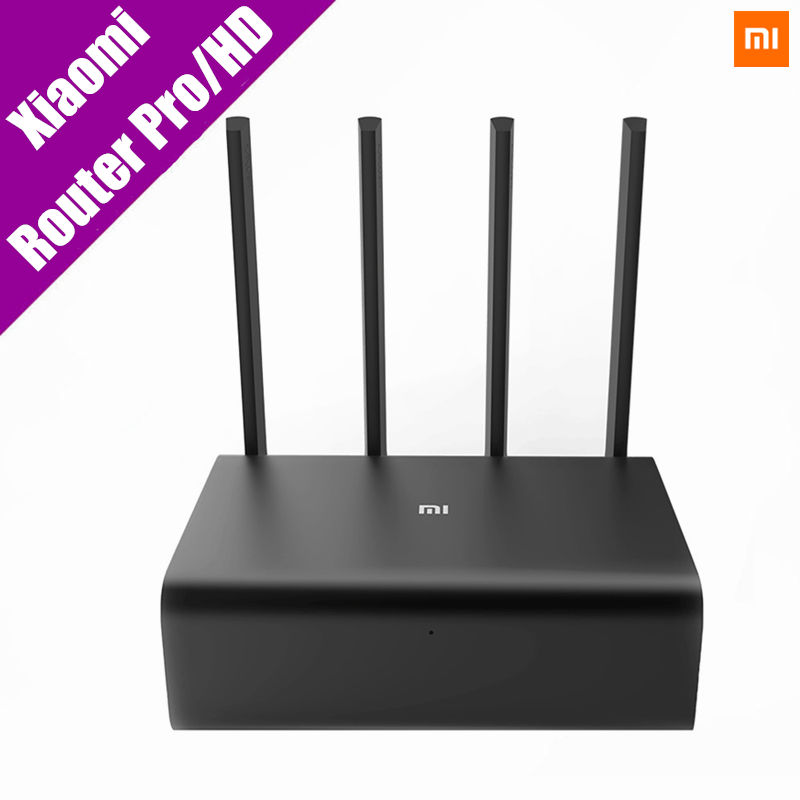 все цены на Original Xiaomi Mi WiFi Wireless Router HD/Pro 2533Mbps 2.4G/5GHz Dual Band Roteador WiFi Repeater HD 1TB 2TB 8TB English APP онлайн