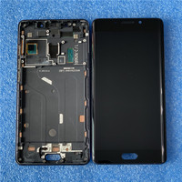 Original For 5.7 Xiaomi Note 2 Mi Note 2 Axisinternational LCD Screen Display With Frame+Touch Panel Digitizer For MINote 2