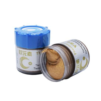 Купить с кэшбэком Compound 30g Thermal Conductive Grease Paste Heatsink silver Silicone for processor Ram CPU cooler gpu gtx750 Peltier element