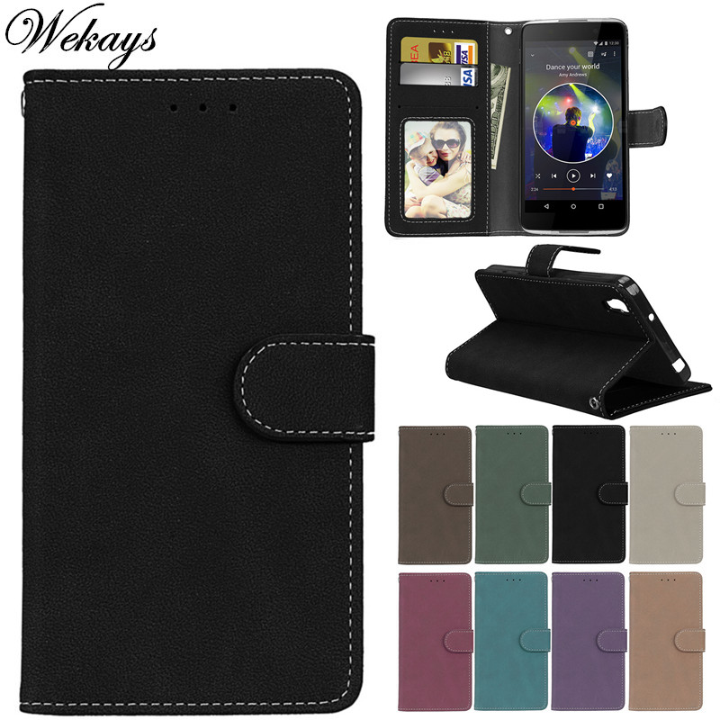 Wekays For <font><b>Alcatel</b></font> <font><b>Idol</b></font> <font><b>4</b></font> <font><b>Case</b></font> 6055 Black Business Matte Leather <font><b>Flip</b></font> Fundas <font><b>Case</b></font> sFor <font><b>Alcatel</b></font> One Touch <font><b>Idol</b></font> <font><b>4</b></font> <font><b>6055K</b></font> Cover <font><b>Case</b></font> image