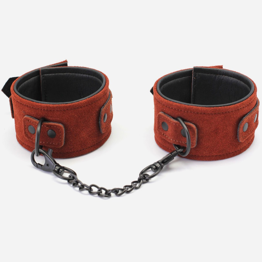 2019 New Arrival Luxury Top Leather ankle cuffs, Brown Suede feet cuffs, sex restraint products, Adult sex toys2019 New Arrival Luxury Top Leather ankle cuffs, Brown Suede feet cuffs, sex restraint products, Adult sex toys