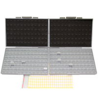 2 Empty BOX ALL 72 Enclosures Boxes 4 SMD SMT Resistor Capacitor Organizer 0603