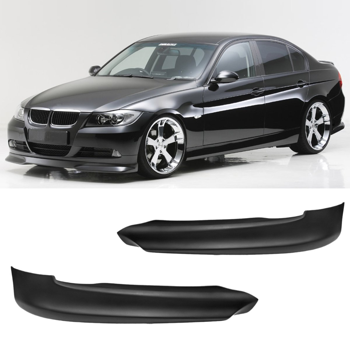 A Pair Front Bumper Lip Spoiler Splitter High quality For BMW E90 325i 335i 328i 330i 2005-2008 зарядное устройство usams us cc036 1xusb black