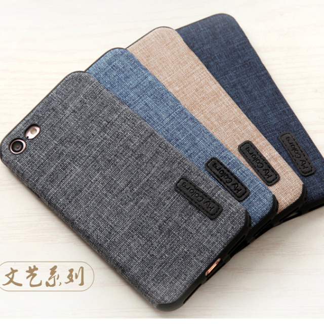 finest selection b6059 bda1e US $9.79 |Woven fabric denim Cloth soft silicone Case For iphone 6 6s 6  Plus 6s Plus 4.7 5.5 inch Casing Anti Drop Luxury Cover-in Fitted Cases  from ...