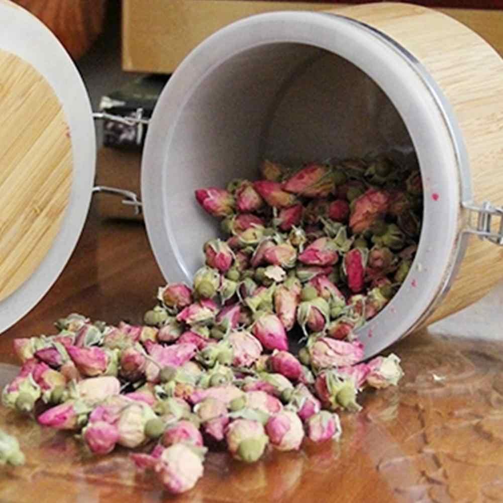 المنزلية خشبية البسيطة ختم يمكن الحبوب تخزين جرة لوازم المطبخ الغذاء يمكن خشبية إبريق قهوة