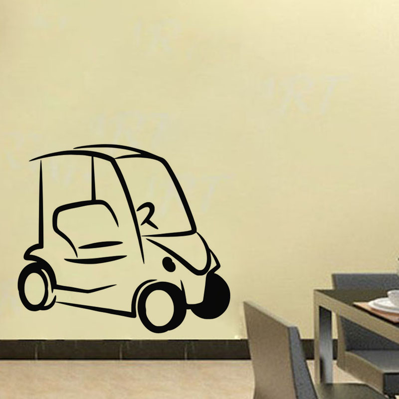 Simple Design Golf Cart Wall Stickers Home Decor Kids Room Wall ...