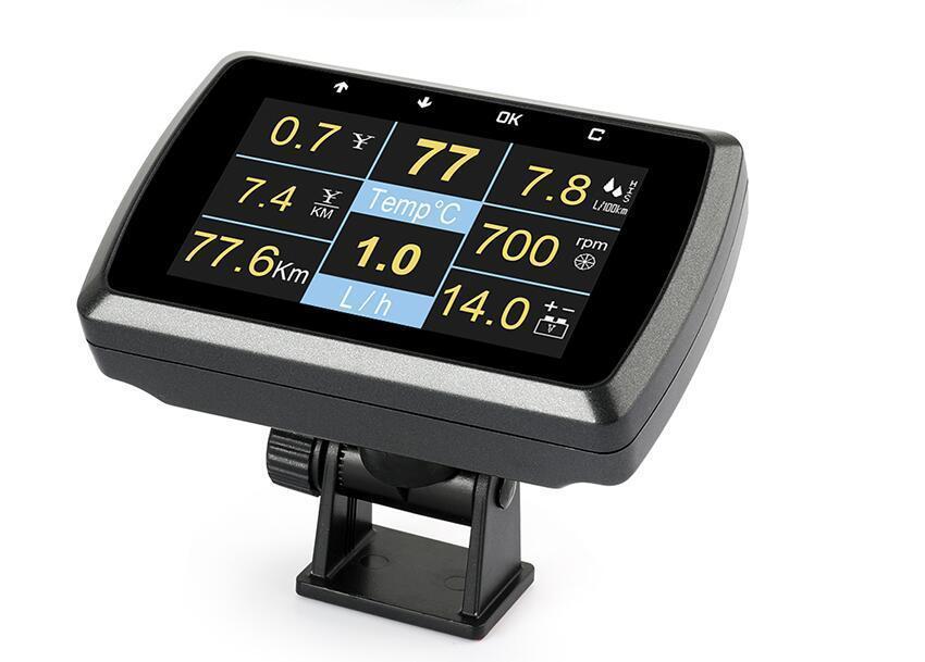 Image 3 - Car OBD2 Gauge With Holder Driving Speed Meter Water Temperature Digital Display-in Pressure & Vacuum Testers from Automobiles & Motorcycles