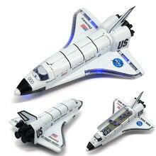 Сплав космический челнок литой космический корабль модель космического корабля 19 см длина с светильник Музыка для детей игрушки