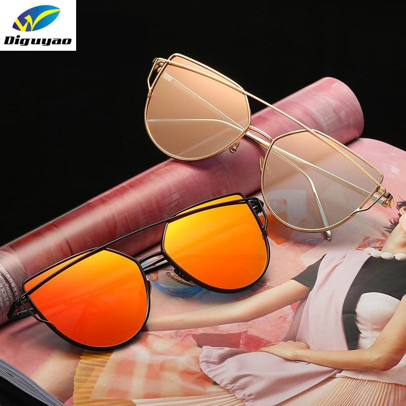 Oculos de sol feminino 2018 Cat Eye Marque lunettes de soleil de créateur  Femmes de Mode cdfccdde2310