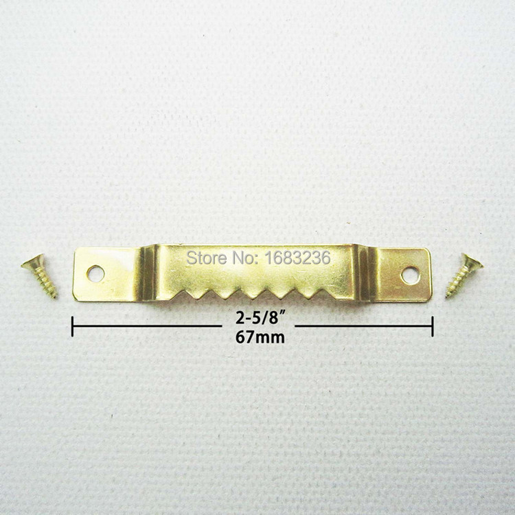 50pcs heavy duty large golden picture oil painting frame sawtooth hooks hangers 10mm x 67mm