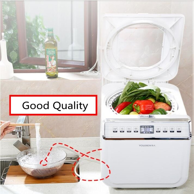 220V Vegetable Washing Machine Fruit Vegetable Cleaner Household Disinfection Detoxification Automatic Food Ozone Sterilizer 220v household fruit and vegetable disinfection machine automatic ozone washing machine decomposition pesticide sterilization