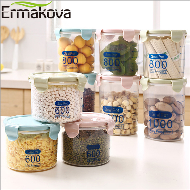 Merveilleux ERMAKOVA Airtight Food Storage Container PP Kitchen Container Dry Food  Storage Jar With Scale Food Storage